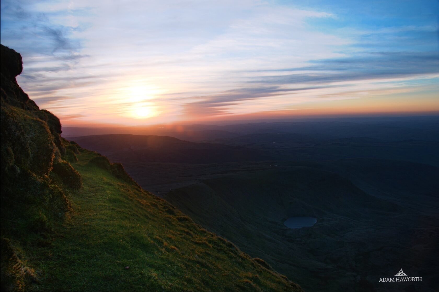Sunset from Cribyn and Pen y Fan, Brecon Beacons
